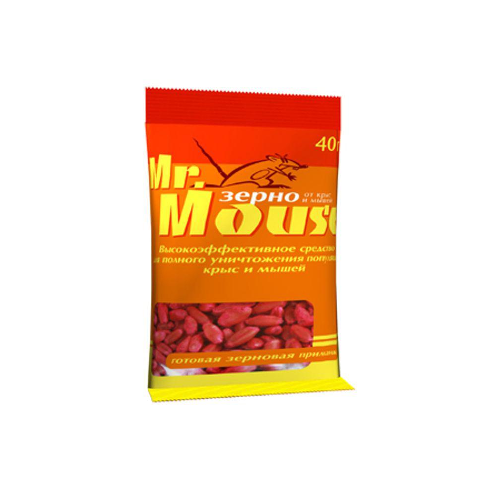 Зерновая приманка Mr.Mouse, 40 г. СЗ.04000780105Родентицидное средство Mr.Mouse в виде готовой к применению зерновой приманки красного цвета.Способы примененияПоместить средство в лотки, на подложки по 10-20г от мышей и по 30-50г от серых и черных крыс. Размещение в специальных емкостях повышает поедаемость средства, препятствуя его растаскиванию грызунами.Размещают емкости в предварительно выявленных местах обитания грызунов: по близости от их нор, на путях перемещения, вдоль стен и перегородок.Расстояние между точками раскладки 2-10м в зависимости от захламленности помещений и численности грызунов. Для водяных крыс приманку размещают около входа нор по 15-30г для кротов - в свежей кротовине делают вертикальный вырез между двумя выбросами земли, куда закладывают по 15-20г приманки, которую закрывают дощечкой и присыпают землей. Осмотр проводят через 1-2 дня, а затем с интервалом в одну неделю, восполняя по мере поедания. Загрязненную приманку следует заменить на новую. Нетронутые брикеты можно перенести в другое место. Работу проводят до исчезновения грызунов. Действующие вещество: бромадиолон - 0,005%