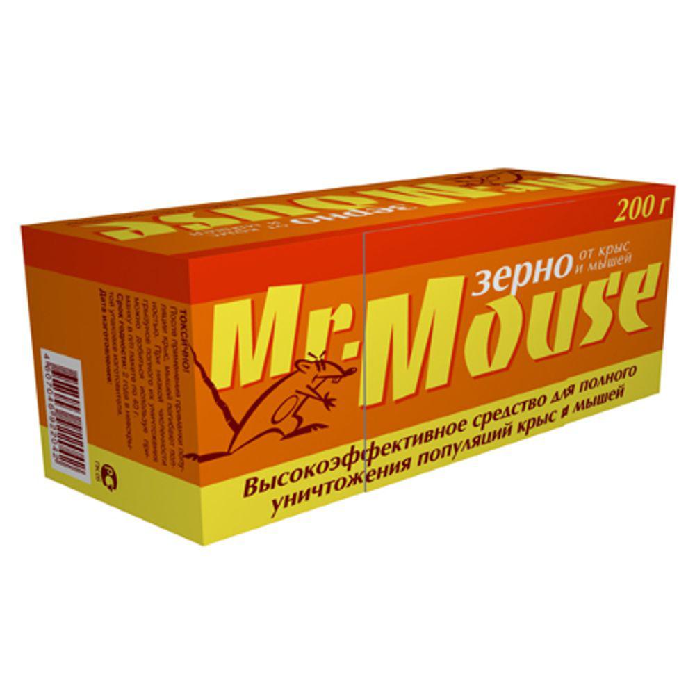 Зерновая приманка Mr.Mouse, 200 г. СЗ.0400096.295-875.0Родентицидное средство Mr.Mouse в виде готовой к применению зерновой приманки красного цвета.Способы примененияПоместить средство в специально предназначенные емкости для раскладки отравленных приманок внутри помещений: контейнер, лоток, ящик или подложка из плотной бумаги и полиэтилена. Норма расхода: по 10-20г от мышей и по 30-50г от серых и черных крыс. Снаружи помещений используют контейнеры, лотки, ящики, кусочки труб, прикрывая приманку от птиц. Для водяных крыс приманку размещают в погребах, в подвалах, в буртах с овощами. Размещение в специальных емкостях повышает поедаемость средства, препятствуя его растаскиванию грызунами. Размещают емкости в предварительно выявленных местах обитания грызунов: по близости от их нор, на путях перемещения, вдоль стен и перегородок. Расстояние между точками раскладки 2-10м в зависимости от захламленности помещений и численности грызунов. Осмотр проводят через 1-2 дня, а затем с интервалом в одну неделю, восполняя по мере поедания. Загрязненную приманку следует заменить на новую. Нетронутые брикеты можно перенести в другое место. Работу проводят до исчезновения грызунов. Действующие вещество: бромадиолон - 0,005%