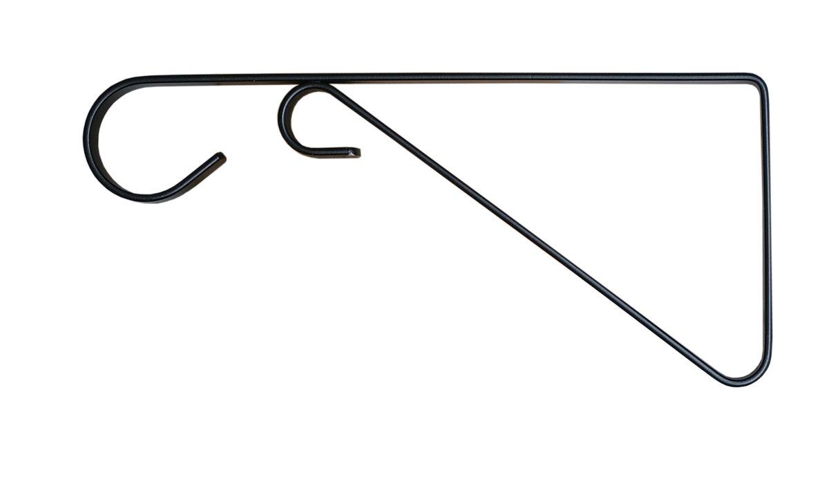 Кронштейн для кашпо Masterprof, с ребром жесткости, длина 23 см, цвет: черныйЯБ501401Кронштейн для подвешивания кашпо, фонарей и пр. Подходит для использования внутри и снаружи помещений.Рабочая длина 23 см.Максимальная нагрузка на кронштейн - 18,1 кг. Диаметр используемого кашпо до 30,5 см.