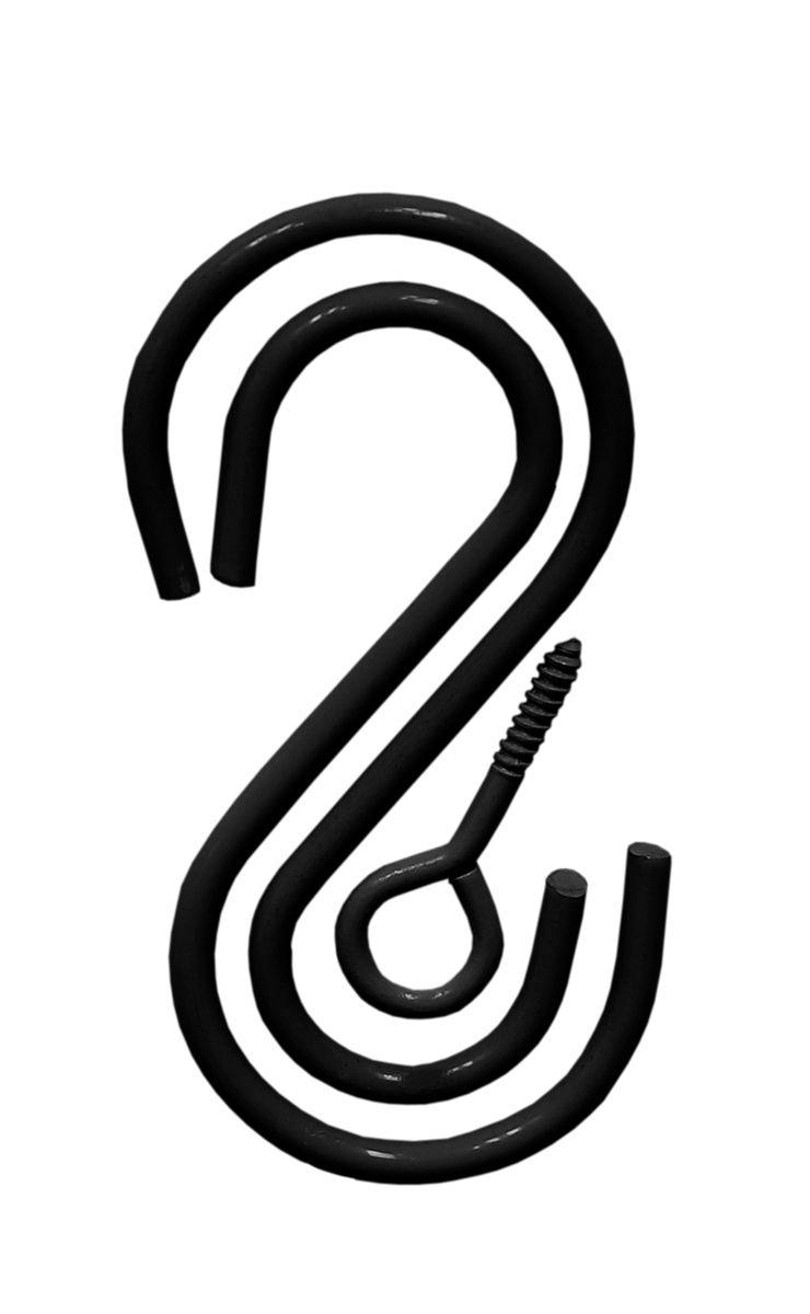 Комплект крючков S-образных Masterprof, 3 шт531-402Комплект из двух S - образных крючков и самореза с петлей, для подвешивания кашпо. Подходит для использования внутри и снаружи помещений.Размер 9х4,5 см.Нагрузка 22,7 кг.Цвет - Черный.