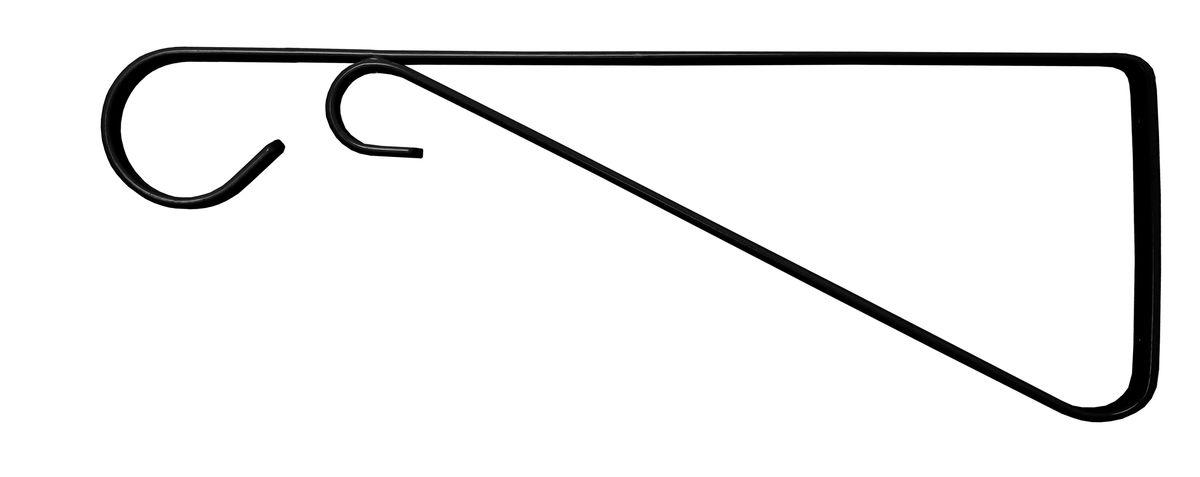 Кронштейн для кашпо Masterprof, с ребром жесткости, длина 30 см, цвет: черный66945-2Кронштейн для подвешивания кашпо, фонарей, установки полок. Подходит для использования внутри и снаружи помещений.Рабочая длина 30 см.Максимальная нагрузка на кронштейн - 17,2 кг. Диаметр используемого кашпо до 40,6 см