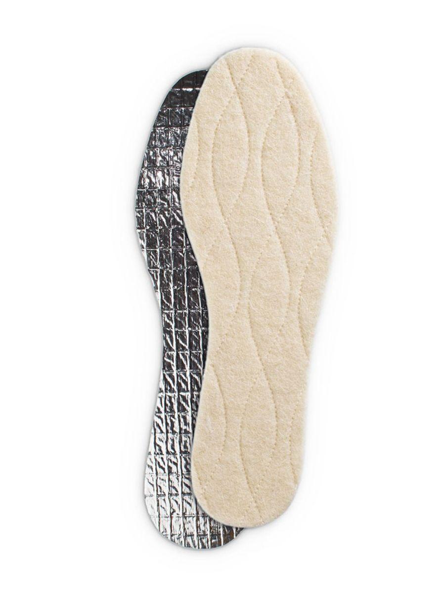 Стельки зимние Collonil Thermo, трехслойные, с фольгой, 2 шт. Размер 44NTS-101C blueЗимние стельки Collonil Thermo прекрасно сохраняют тепло за счет трех защитных слоев: - 1 слой из натуральной шерсти, благодаря которой ноги согреваются естественным путем;- 2 слой обеспечивает термоизоляцию; - 3 слой из фольги, которая отражает холод.Размер: 44. Количество: 2 шт.