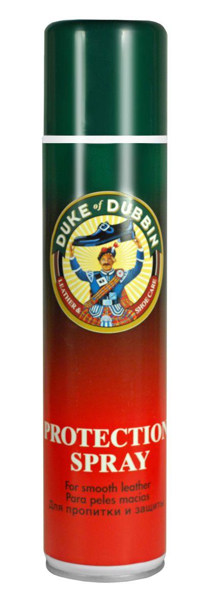 Спрей для обуви Duke of Dubbin Duke Protection, водоотталкивающий, 400 мл3303 399Универсальный водоотталкивающий спрей Duke of Dubbin предназначен для всех видов гладкой кожи, замши, велюра и нубука, а также текстильных и комбинированных материалов. Он обеспечивает интенсивную защиту от влаги и глубоких загрязнений, облегчая чистку изделий. Препятствует появлению водных, грязевых и солевых пятен. Протестирован и рекомендован для обуви с климатическими мембранами и из материалов HIGH-TECH, в том числе для GORE-TEX и SYMPATEX. При регулярном использовании значительно продлевает срок службы изделия.Объем: 400 мл. Товар сертифицирован.