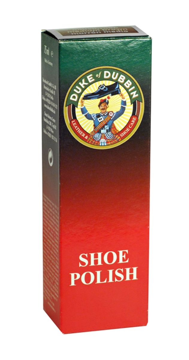Крем для обуви Duke of Dubbin Shoe Polish, для гладкой кожи, цвет: темно-синий, 75 мл3742 399Duke of Dubbin Shoe Polish - специализированный крем для ухода за изделиями из гладкой кожи, в состав которого входят: воск, жиры и масла, питающие кожу и ухаживающие за ней. Специальные ингредиенты придают коже более насыщенный цвет и яркость. Способ применения: Наносить только на сухую и очищенную поверхность. Небольшое количество крема равномерно нанести на изделие, дать впитаться. Отполировать с помощью мягкой салфетки или щетки. Рекомендуется применять после обработки пропиткой для максимальной защиты. Регулярное использование средства обеспечивает оптимальный уход за кожей и продлит срок службы изделия.