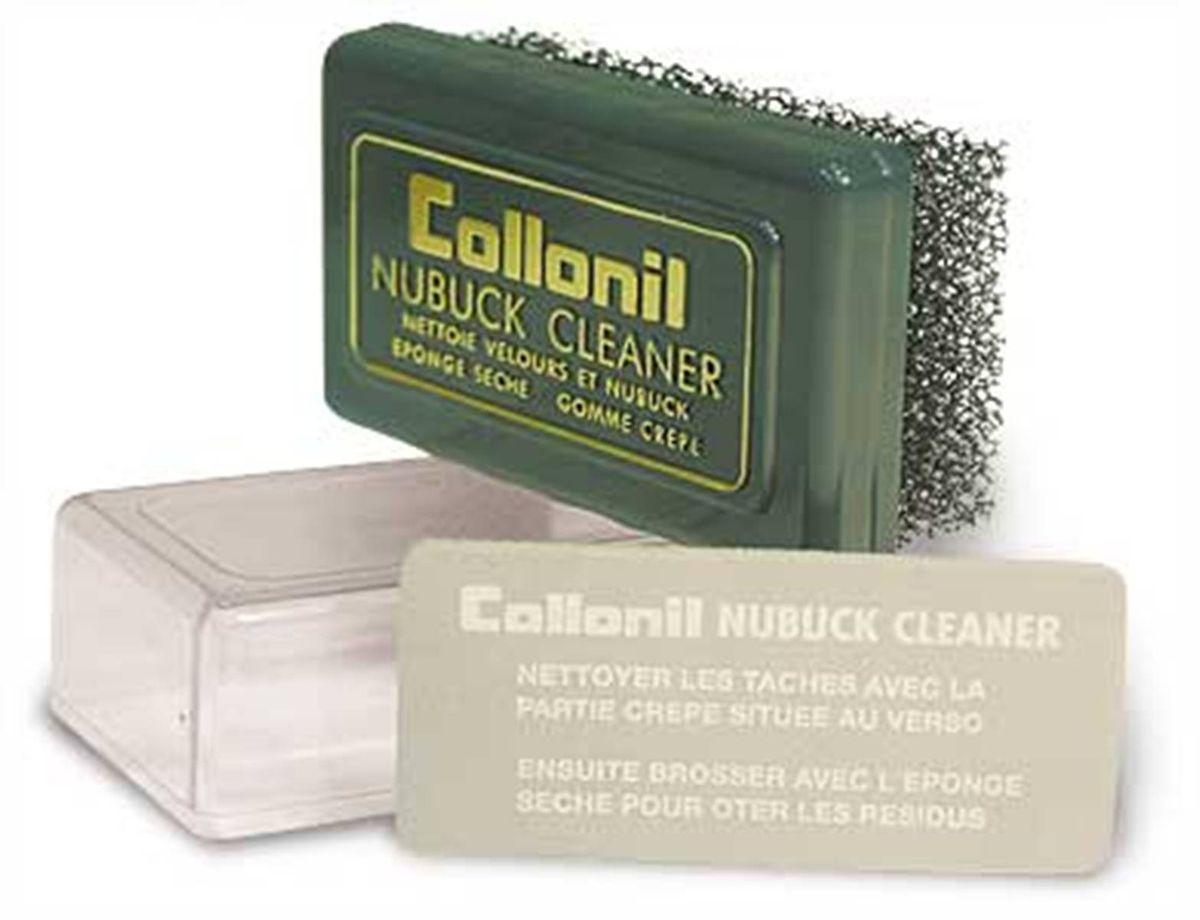 Губка для замши, велюра, нубука Collonil Nubuk Cleaner531-401Специальная пористая губка, особенно удобная для чистки больших изделий из замши, велюра и нубука. В комплект входит ластик для более тщательного устранения загрязнений. Способ применения: Очистить пятна и иные загрязнения при помощи щетки, взъерошить ворс.