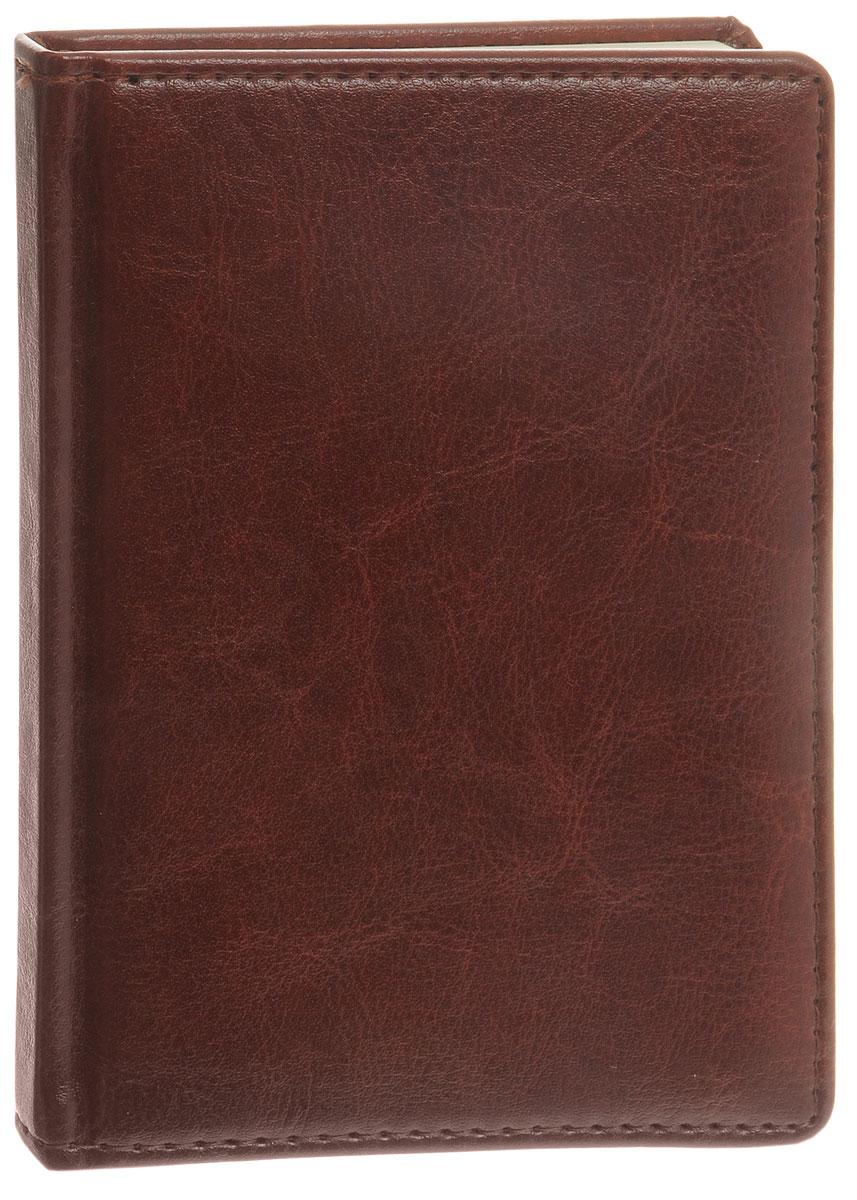 Listoff Записная книжка 96 листов в клетку цвет темно-коричневый72523WDЗаписная книжка Listoff - незаменимый атрибут современного человека, необходимый для рабочих и повседневных записей в офисе и дома. Записная книжка содержит 96 листов в клетку формата А6. Обложка выполнена из искусственной кожи и прошита по периметру нитками. Внутренний блок изготовлен из высококачественной плотной бумаги, что гарантирует чистоту записей и отсутствие клякс. Атласное ляссе поможет быстро найти нужную страницу.Записная книжка Listoff станет достойным аксессуаром среди ваших канцелярских принадлежностей. Она подойдет как для деловых людей, так и для любителей записывать свои мысли, рисовать скетчи, делать наброски.