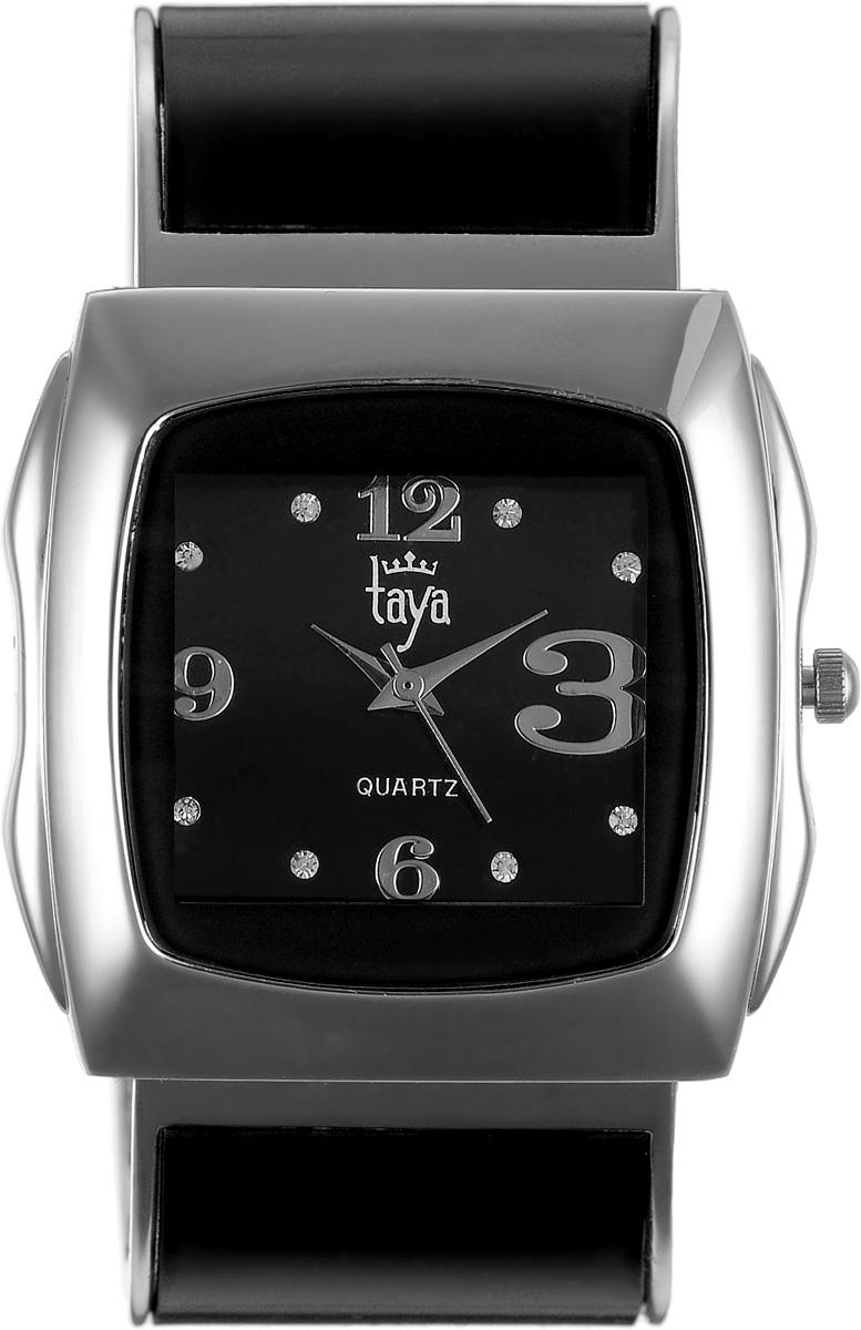 Часы наручные женские Taya, цвет: серебряный, черный. T-W-0440BM8434-58AEЭлегантные женские часы Taya выполнены из металлического сплава, минерального стекла и нержавеющей стали. Циферблат часов инкрустирован стразами и оформлен символикой бренда.Корпус часов оснащен кварцевым механизмом со сменным элементом питания и дополнен раздвижным браслетом с пружинным механизмом, который позволяет надеть часы на любую руку.Часы поставляются в фирменной упаковке.Часы Taya подчеркнут изящность женской руки и отменное чувство стиля у их обладательницы.