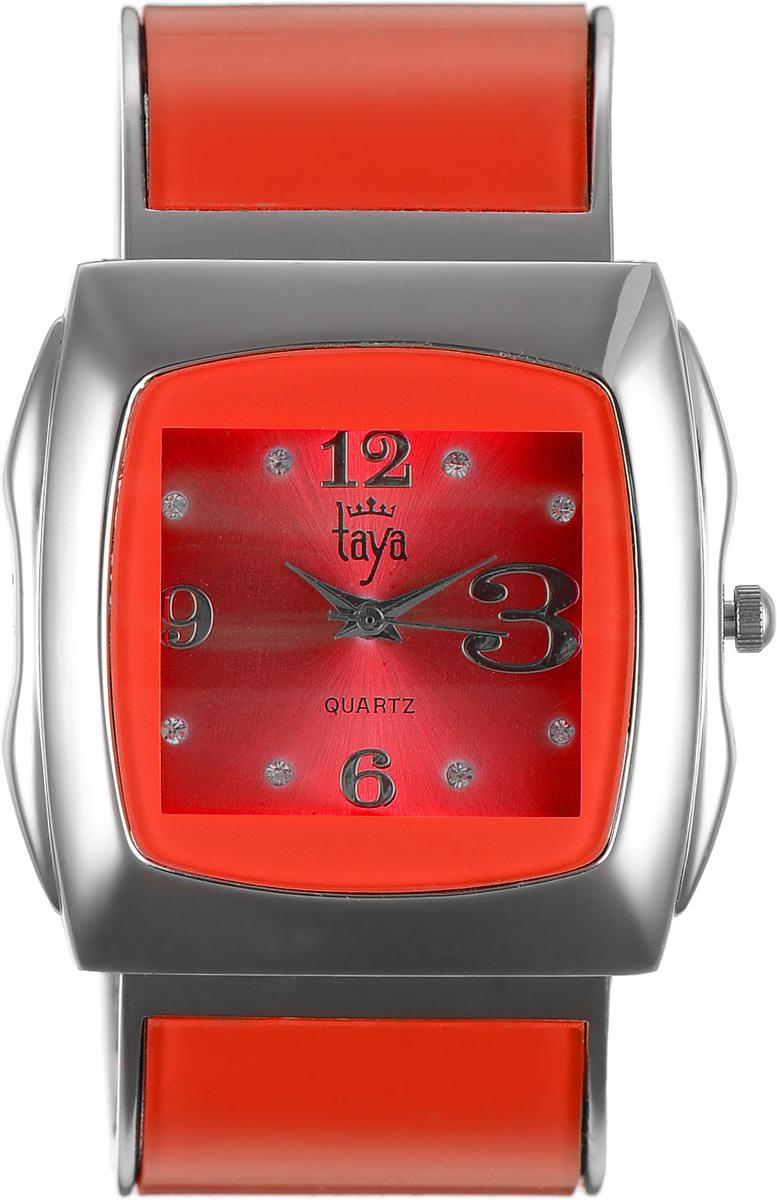 Часы наручные женские Taya, цвет: серебряный, красный. T-W-0441BM8434-58AEЭлегантные женские часы Taya выполнены из металлического сплава, минерального стекла и нержавеющей стали. Циферблат часов инкрустирован стразами и оформлен символикой бренда.Корпус часов оснащен кварцевым механизмом со сменным элементом питания и дополнен раздвижным браслетом с пружинным механизмом, который позволяет надеть часы на любую руку.Часы поставляются в фирменной упаковке.Часы Taya подчеркнут изящность женской руки и отменное чувство стиля у их обладательницы.