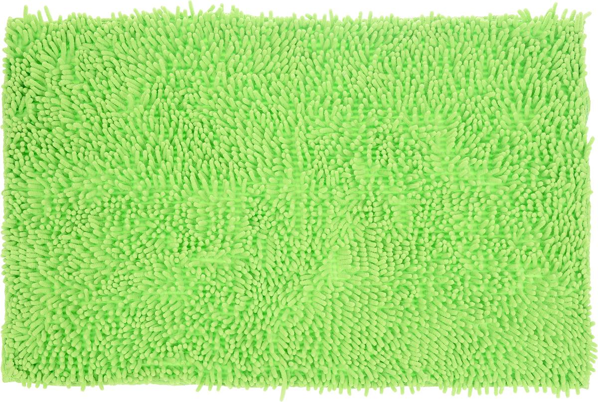 Коврик для ванной комнаты Top Star, цвет: салатовый, 80 х 50 см291532Коврик Top Star, выполненный из 100% полиэстера, с высоким ворсом и противоскользящей пропиткой прекрасно подходит для ванной комнаты. Он мягкий и приятный на ощупь, отлично впитывает влагу и быстро сохнет. Высокая износостойкость коврика и стойкость цвета позволит наслаждаться изделием долгие годы.Рекомендации по уходу: - можно стирать в стиральной машине при 40°С, - не использовать отбеливатели, - не гладить,- барабанная сушка запрещена.