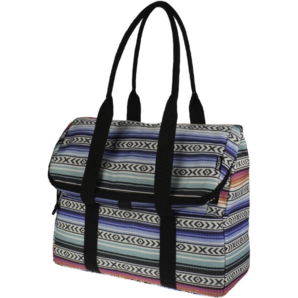 Сумка-холодильник Packit дорожная, цвет: голубой, 10 л19201Охлаждение содержимых в сумке продуктов в течение 10-ти часов. Наличие плечевого ремня, обеспечивающего максимальное удобство транспортировки сумки.