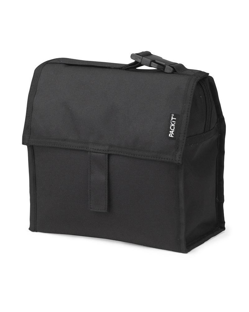 Сумка-холодильник Packit Mini Lunch Bag, цвет: черный, 2 лAS 25Охлаждение содержимых в сумке продуктов в течение 10-ти часов. Наличие плечевого ремня, обеспечивающего максимальное удобство транспортировки сумки.
