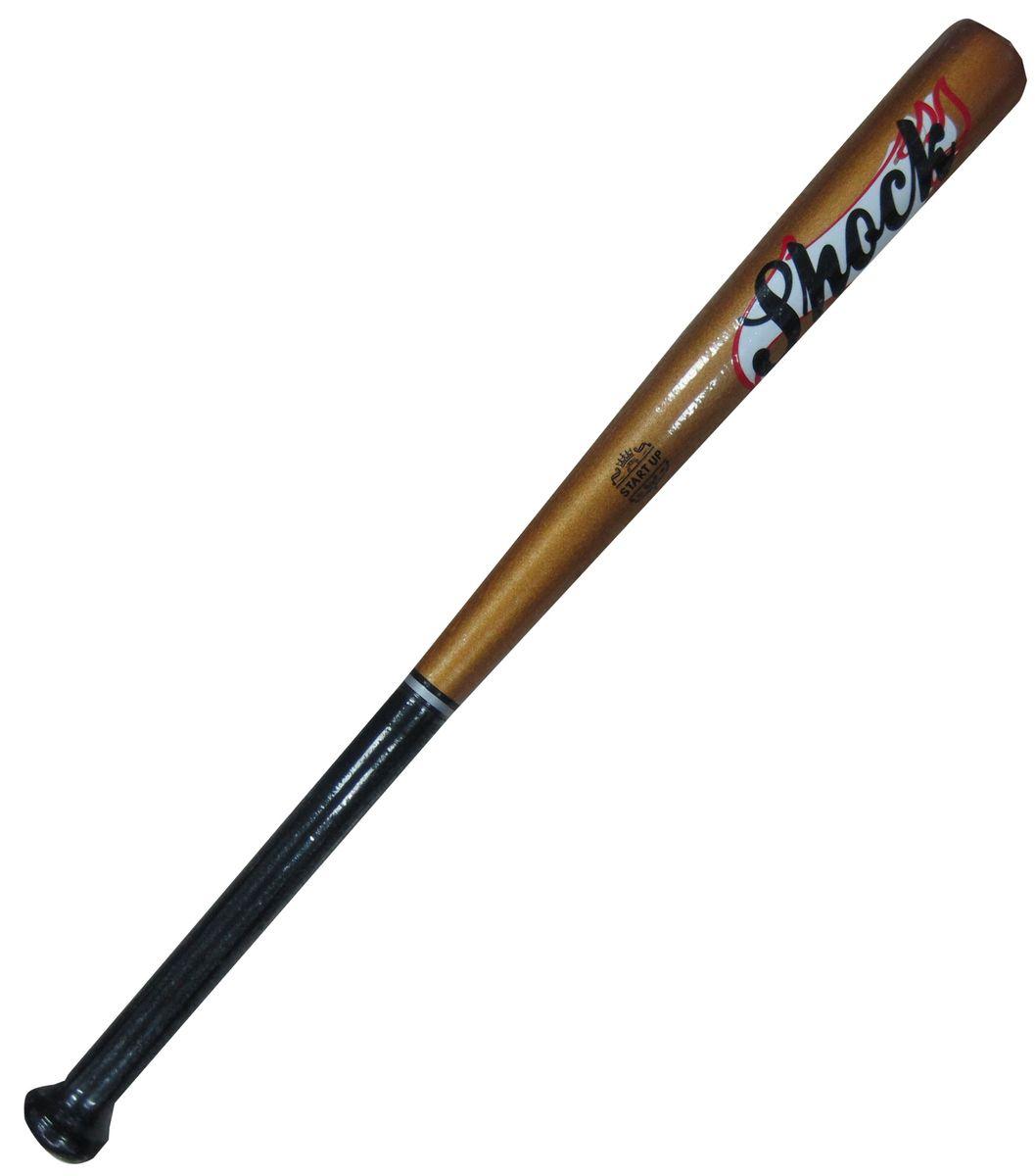 Бита бейсбольная Start UP R Shock, цвет: золотой, черный, 26339449Бейсбольная бита Start Up выполнена из каучукового дерева, а это значит, что она невероятно прочная и плотная. Размер - 26 (66 см).