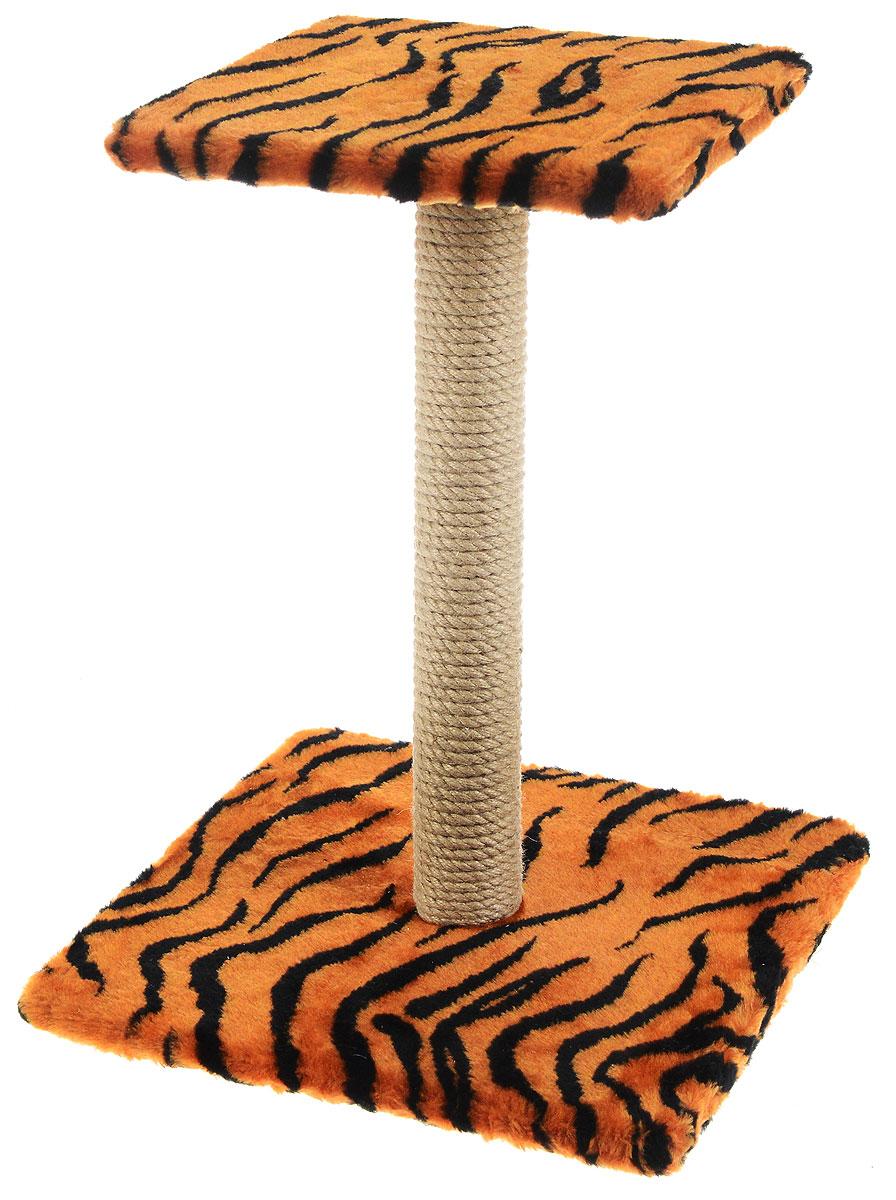 Когтеточка Меридиан Зонтик, цвет: оранжевый, черный, бежевый, 40 х 40 х 50 смД126 ЛаКогтеточка Меридиан Зонтик поможет сохранить мебель и ковры в доме от когтей вашего любимца, стремящегося удовлетворить свою естественную потребность точить когти. Когтеточка изготовлена из дерева, искусственного меха и джута. Товар продуман в мельчайших деталях и, несомненно, понравится вашей кошке. Сверху имеется полка.Всем кошкам необходимо стачивать когти. Когтеточка - один из самых необходимых аксессуаров для кошки. Для приучения к когтеточке можно натереть ее сухой валерьянкой или кошачьей мятой. Когтеточка поможет вашему любимцу стачивать когти и при этом не портить вашу мебель.Размер основания: 40 х 40 см.Высота когтеточки: 50 см.Размер полки: 31 х 31 см.