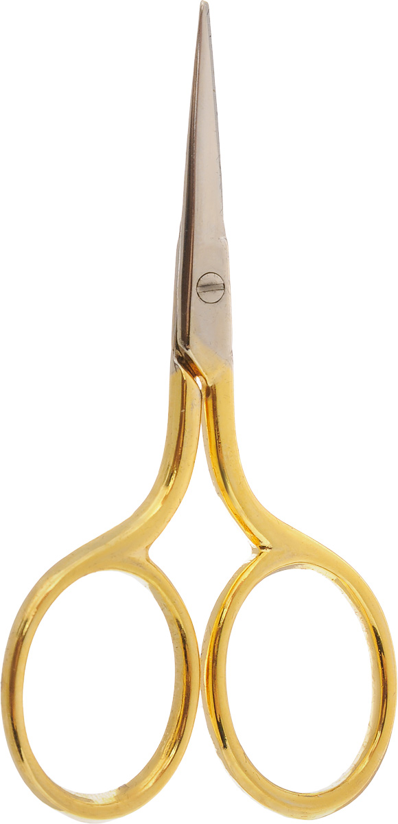 Ножницы для вышивания Hemline, длина 7 смFS-54108Ножницы для вышивания Hemline выполнены из высококачественной нержавеющей стали с позолоченным покрытием. Вышивальщице обязательно нужны ножницы, причем не одни. Ножницы должны быть маленькие и с острыми кончиками. Аккуратные и элегантные ножницы предназначены для вышивания и рукоделия, идеально подходят для обрезания нитей.Длина ножниц: 7 см.Длина лезвий: 2 см.