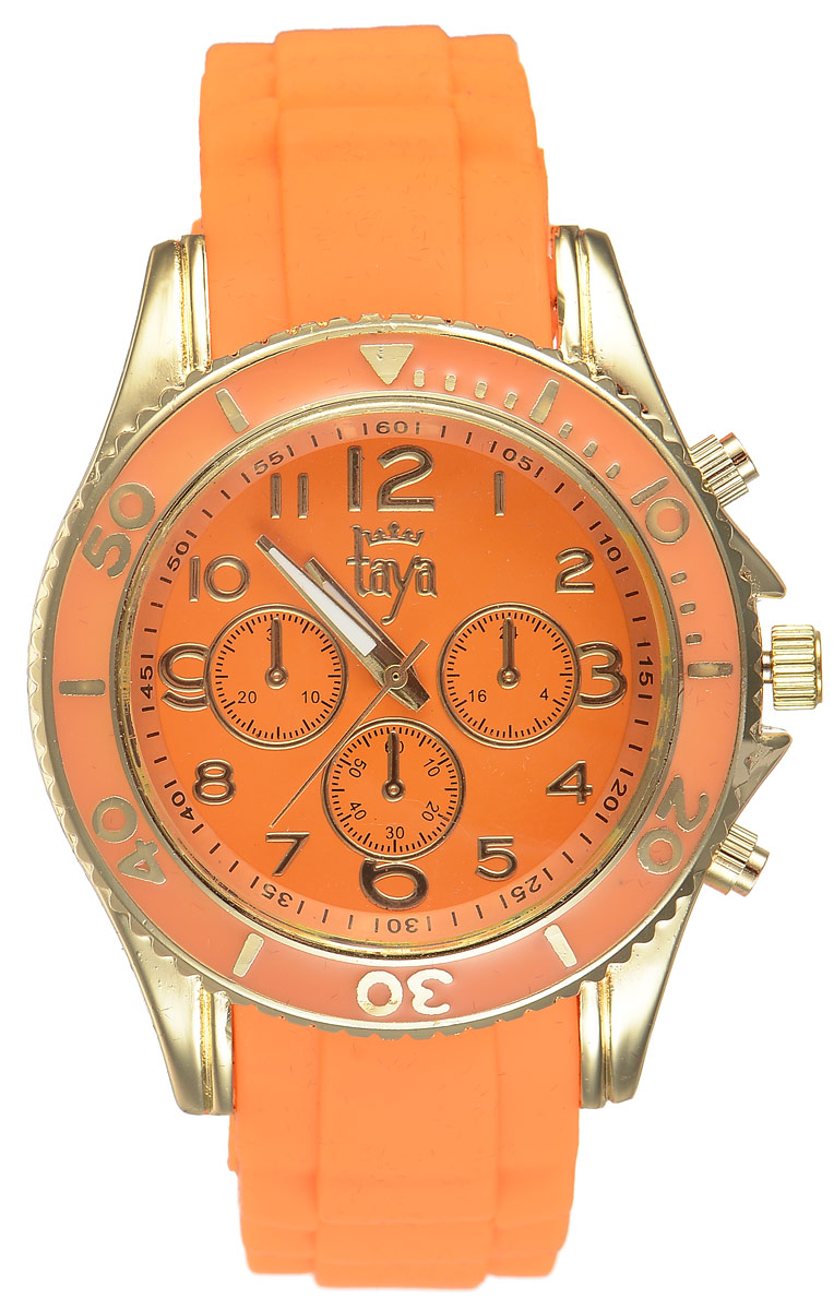 Часы наручные женские Taya, цвет: золотистый, оранжевый. T-W-0238