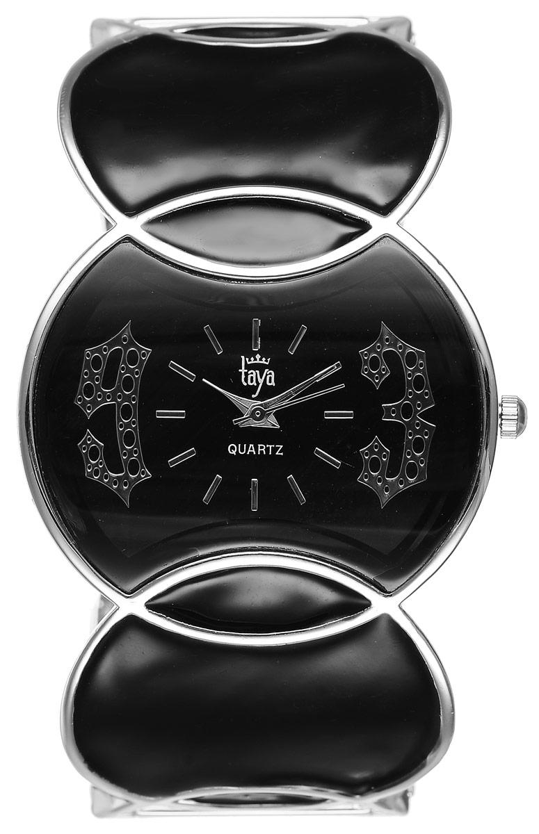 Часы наручные женские Taya, цвет: серебристый, черный. T-W-0442BM8434-58AEСтильные женские часы Taya выполнены из минерального стекла и нержавеющей стали. Циферблат часов оформлен символикой бренда.Корпус часов оснащен кварцевым механизмом со сменным элементом питания и дополнен раздвижным браслетом с пружинным механизмом. Браслет оформлен цветной эмалью.Часы поставляются в фирменной упаковке.Часы Taya подчеркнут изящность женской руки и отменное чувство стиля у их обладательницы.