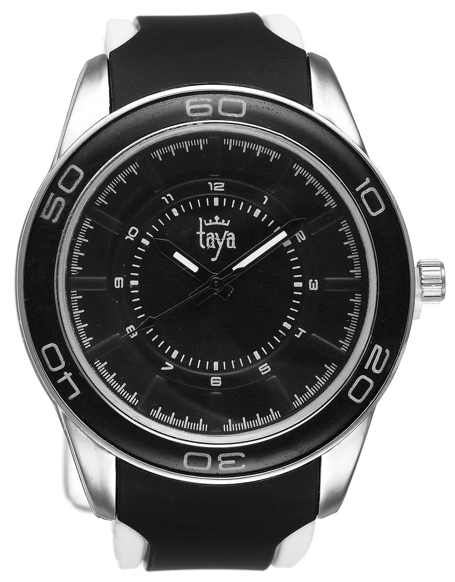 Часы наручные женские Taya, цвет: серебристый, черный. T-W-0207BM8434-58AEСтильные женские часы Taya выполнены из минерального стекла, силикона и нержавеющей стали. Циферблат оформлен символикой бренда.Корпус часов оснащен кварцевым механизмом со сменным элементом питания, а также силиконовым ремешком с практичной пряжкой. На стрелки нанесен светящийся состав.Часы поставляются в фирменной упаковке.Часы Taya подчеркнут изящность женской руки и отменное чувство стиля у их обладательницы.