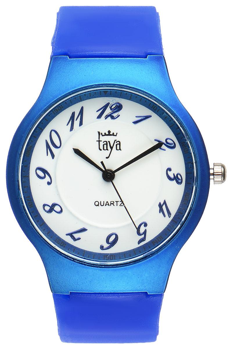 Часы наручные женские Taya, цвет: синий. T-W-022610130-11Стильные спортивные часы Taya выполнены из минерального стекла, силикона и нержавеющей стали. Циферблат оформлен символикой бренда.Корпус часов оснащен кварцевым механизмом со сменным элементом питания, а также силиконовым ремешком с практичной пряжкой.Часы поставляются в фирменной упаковке.Часы Taya подчеркнут изящность женской руки и отменное чувство стиля у их обладательницы.