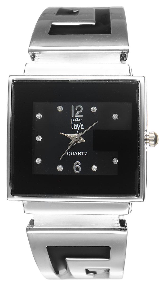 Часы наручные женские Taya, цвет: серебристый, черный. T-W-0402ML597BUL/DСтильные женские часы Taya выполнены из минерального стекла и нержавеющей стали. Циферблат часов инкрустирован стразами и украшен символикой бренда.Корпус часов оснащен кварцевым механизмом со сменным элементом питания, а также дополнен раздвижным браслетом с пружинным механизмом, который позволяет надеть часы на любую руку. Браслет оформлен цветной эмалью.Часы поставляются в фирменной упаковке.Часы Taya подчеркнут изящность женской руки и отменное чувство стиля у их обладательницы.