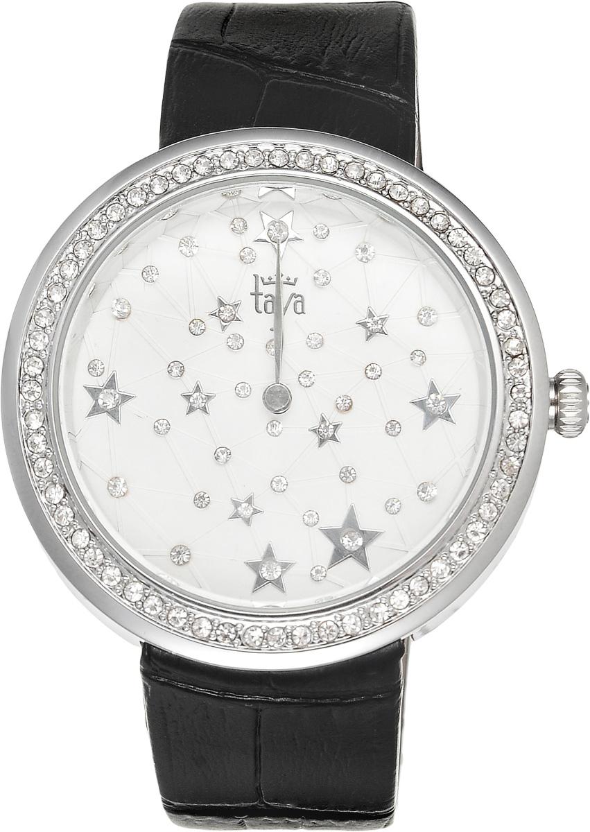 Часы наручные женские Taya, цвет: серебристый, черный. T-W-0010BM8434-58AEЭлегантные женские часы Taya выполнены из минерального стекла, натуральной кожи и нержавеющей стали. Циферблат с символикой бренда и корпус часов украшены стразами.Корпус часов оснащен кварцевым механизмом со сменным элементом питания, а также дополнен ремешком из натуральной кожи, который застегивается на пряжку. Ремешок декорирован тиснением под кожу рептилии.Часы поставляются в фирменной упаковке.Часы Taya подчеркнут изящность женской руки и отменное чувство стиля у их обладательницы.