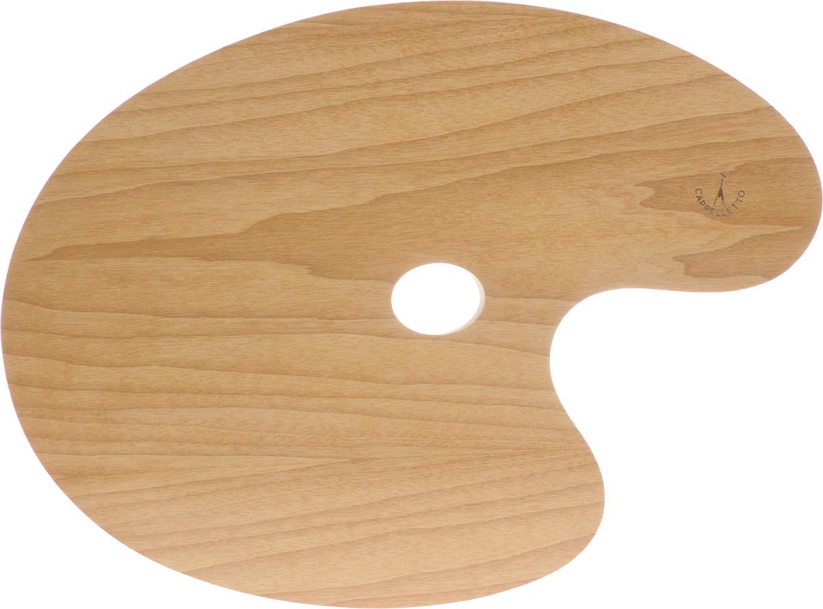 """Овальная палитра """"Cappelletto"""" изготовлена из высококачественного дерева бука и предназначена для смешивания красок. Изделие покрыто специальным защитным составом, что позволяет легко очистить инструмент после работы. Такая палитра станет незаменимым инструментом для художника. Размер палитры: 40 х 30 см."""