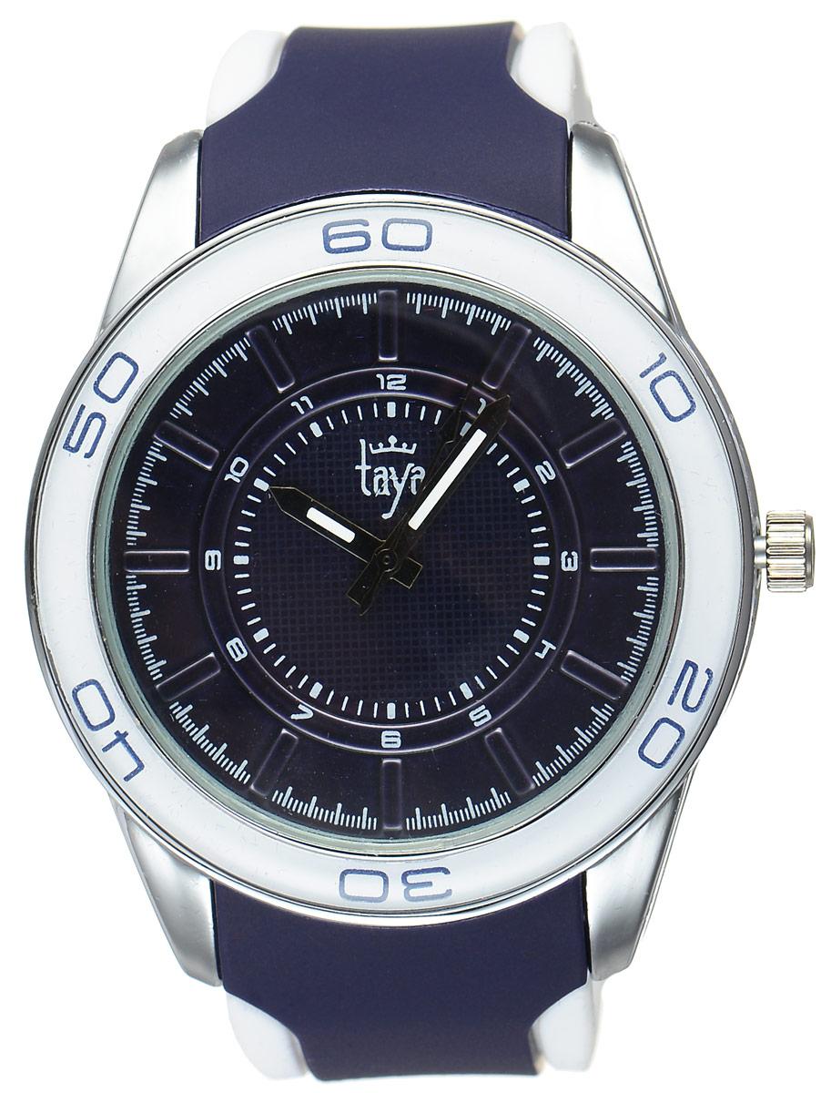 Часы наручные женские Taya, цвет: серебристый, темно-синий. T-W-0209BM8434-58AEСтильные женские часы Taya выполнены из минерального стекла, силикона и нержавеющей стали. Циферблат оформлен символикой бренда.Корпус часов оснащен кварцевым механизмом со сменным элементом питания, а также силиконовым ремешком с практичной пряжкой. На стрелки нанесен светящийся состав.Часы поставляются в фирменной упаковке.Часы Taya подчеркнут изящность женской руки и отменное чувство стиля у их обладательницы.
