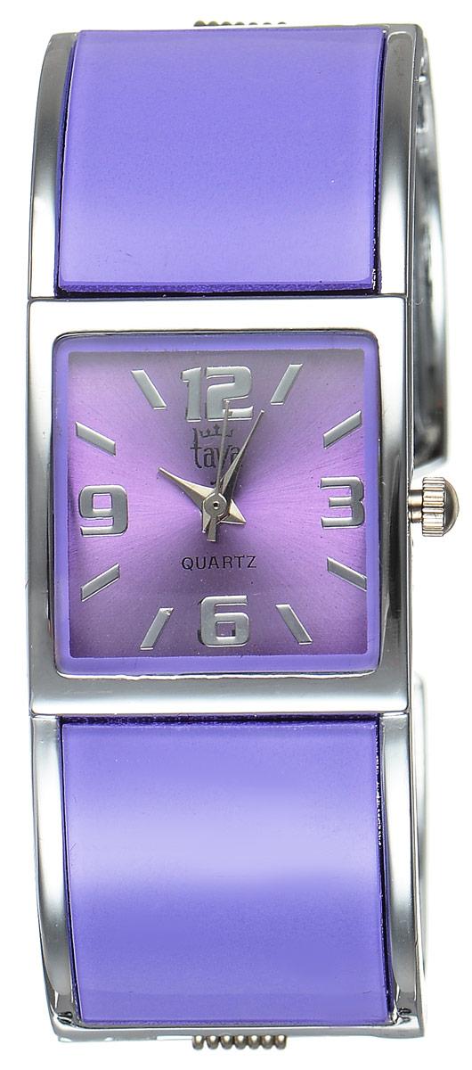 Часы наручные женские Taya, цвет: серебристый, лавандовый. T-W-0409BM8434-58AEСтильные женские часы Taya выполнены из минерального стекла и нержавеющей стали. Циферблат часов оформлен символикой бренда.Корпус часов оснащен кварцевым механизмом со сменным элементом питания и дополнен раздвижным браслетом с пружинным механизмом.Часы поставляются в фирменной упаковке.Часы Taya подчеркнут изящность женской руки и отменное чувство стиля у их обладательницы.
