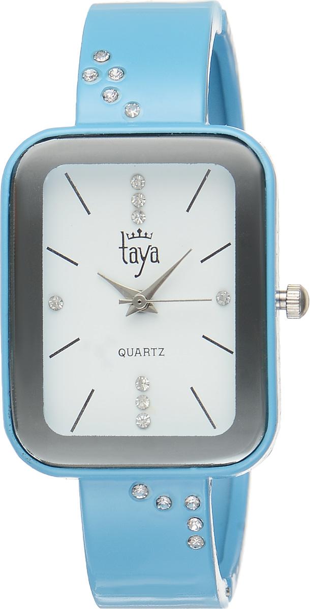 Часы наручные женские Taya, цвет: голубой. T-W-0461INT-06501Стильные женские часы Taya выполнены из минерального стекла и нержавеющей стали. Браслет и циферблат часов инкрустированы стразами, циферблат дополнен символикой бренда.Корпус часов оснащен кварцевым механизмом со сменным элементом питания, а также дополнен раздвижным браслетом с пружинным механизмом.Часы поставляются в фирменной упаковке.Часы Taya подчеркнут изящность женской руки и отменное чувство стиля у их обладательницы.
