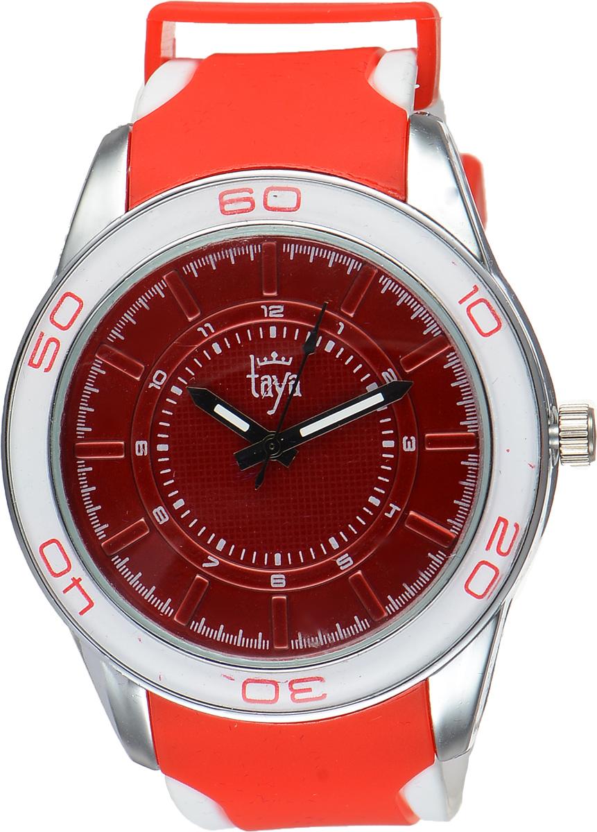 Часы наручные женские Taya, цвет: серебристый, красный. TAYA T-W-0210BM8434-58AEСтильные женские часы Taya выполнены из минерального стекла, силикона и нержавеющей стали. Циферблат оформлен символикой бренда.Корпус часов оснащен кварцевым механизмом со сменным элементом питания, а также силиконовым ремешком с практичной пряжкой. На стрелки нанесен светящийся состав.Часы поставляются в фирменной упаковке.Часы Taya подчеркнут изящность женской руки и отменное чувство стиля у их обладательницы.
