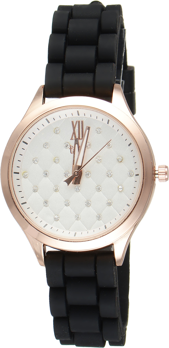 Часы наручные женские Taya, цвет: золотистый, черный. T-W-02054106черныеСтильные женские часы Taya выполнены из минерального стекла, силикона и нержавеющей стали. Циферблат инкрустирован стразами и оформлен символикой бренда.Корпус часов оснащен кварцевым механизмом со сменным элементом питания, а также силиконовым ремешком с практичной пряжкой. На стрелки нанесен светящийся состав.Часы поставляются в фирменной упаковке.Часы Taya подчеркнут изящность женской руки и отменное чувство стиля у их обладательницы.