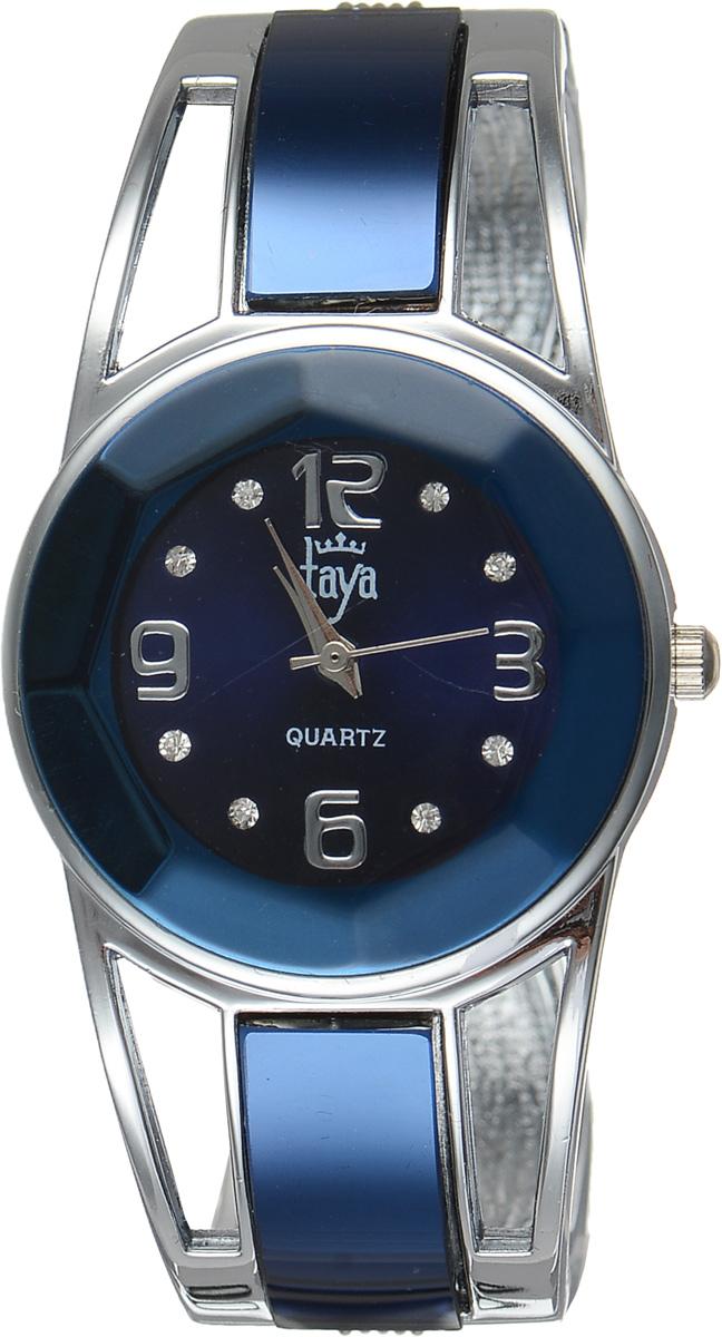 Часы наручные женские Taya, цвет: серебристый, темно-синий. T-W-0433BM8434-58AEСтильные женские часы Taya выполнены из минерального стекла и нержавеющей стали. Корпус часов оформлен огранкой по всей окружности, циферблат инкрустирован стразами и дополнен символикой бренда.Корпус оснащен кварцевым механизмом со сменным элементом питания, а также дополнен раздвижным браслетом с пружинным механизмом и цветными стеклянными вставками.Часы поставляются в фирменной упаковке.Часы Taya подчеркнут изящность женской руки и отменное чувство стиля у их обладательницы.
