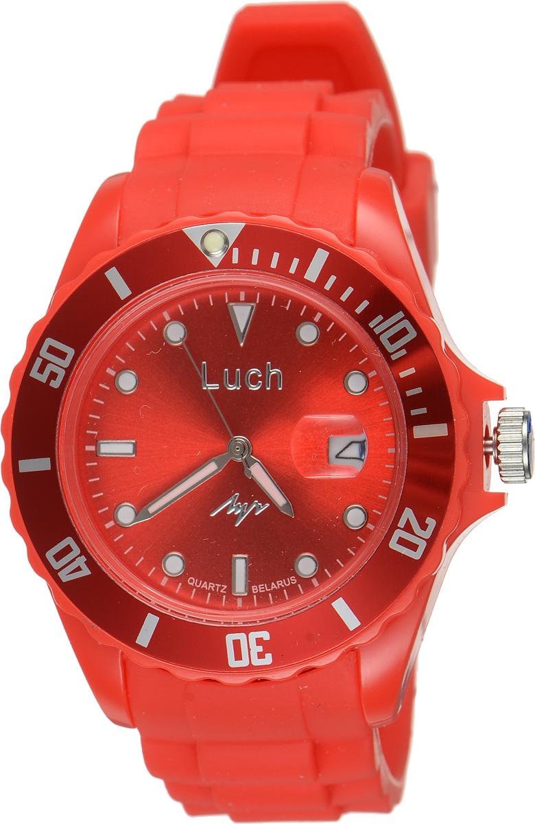 Часы наручные мужские Луч, цвет: красный. 728785940BM8434-58AEСтильные женские часы Луч выполнены из пластика и силикона. Циферблат оформлен символикой бренда и дополнен индикатором даты.Корпус часов оснащен кварцевым механизмом со сменным элементом питания, а также дополнен браслетом, который застегивается на практичную пряжку. На стрелки и циферблат нанесен светящийся состав.Часы поставляются в фирменной упаковке.Часы Луч подчеркнут отменное чувство стиля их обладателя.