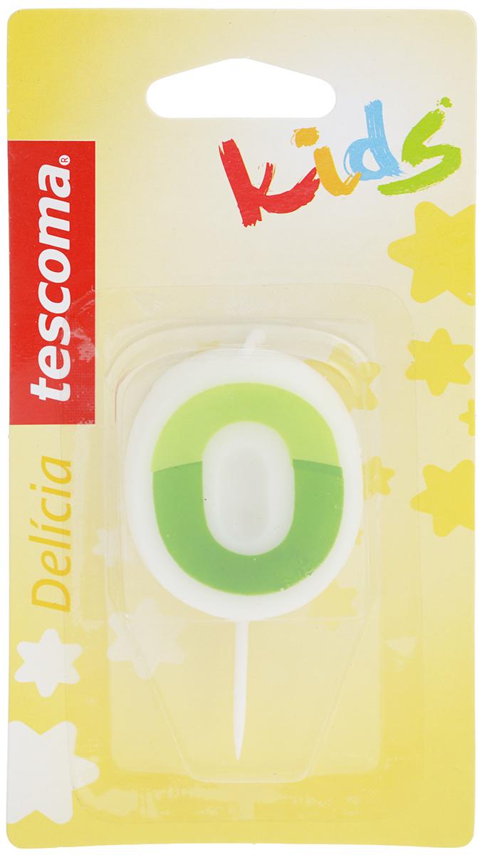 """Свеча для торта Tescoma """"Delicia Kids"""" изготовлена из высококачественного парафина, фитиль - из натурального волокна. Это отличное решение для декорирования детского торта к празднику. Свечу можно комбинировать с другими цифрами. Изделие хорошо и долго горит. С этой свечой ваш праздник станет еще удивительнее и веселее. Размер свечи (без учета иглы): 4 х 5 см. Высота свечи (с учетом иглы): 7,5 см."""