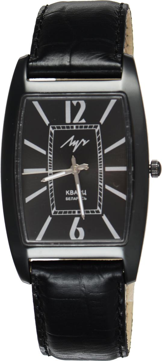 Часы наручные мужские Луч, цвет: черный. 734409890BM8434-58AEСтильные мужские часы Луч выполнены из металлического сплава и органического стекла. Корпус с алмазоподобным покрытием обладает высокой стойкостью к стиранию. Циферблат оформлен символикой бренда.Корпус часов оснащен кварцевым механизмом со сменным элементом питания, а также дополнен ремешком из натуральной кожи с декоративным тиснением, который застегивается на практичную пряжку.Часы Луч подчеркнут отменное чувство стиля их обладателя.