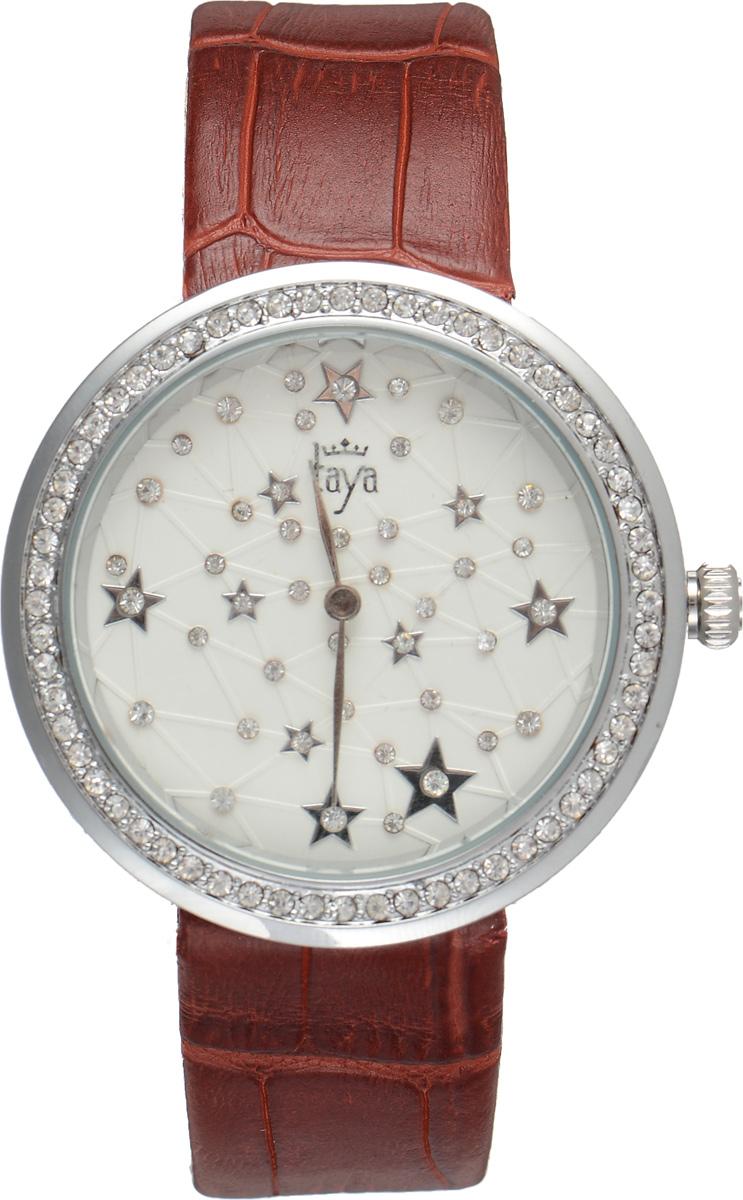 Часы наручные женские Taya, цвет: серебристый, красный. T-W-0009BM8434-58AEЭлегантные женские часы Taya выполнены из минерального стекла, натуральной кожи и нержавеющей стали. Циферблат и корпус часов украшены стразами и символикой бренда.Корпус часов оснащен кварцевым механизмом со сменным элементом питания, а также дополнен ремешком из натуральной кожи, который застегивается на пряжку. Ремешок декорирован тиснением под кожу рептилии.Часы поставляются в фирменной упаковке.Часы Taya подчеркнут изящность женской руки и отменное чувство стиля у их обладательницы.