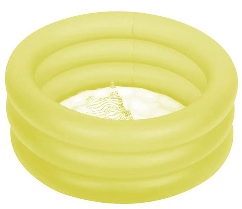 "Бассейн надувной Jilong ""Colorful 3-Ring Pool"", цвет: желтый, 64 х 22 см, 1-3 года"