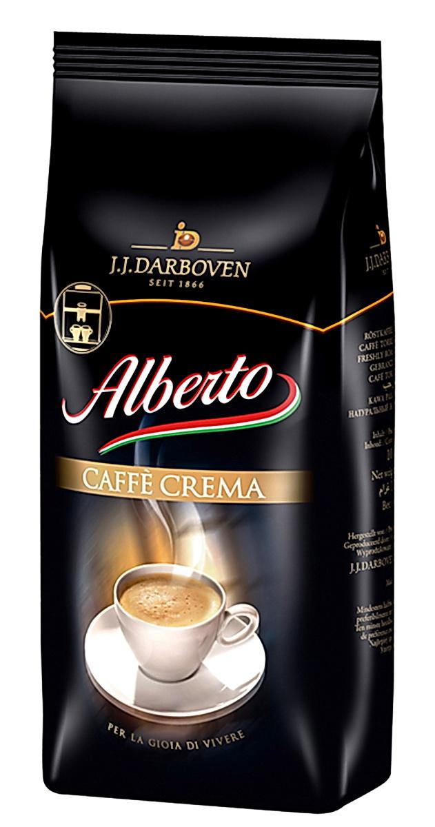 J.J. Darboven Alberto Crema кофе в зернах, 1 кг0120710Кофе в зернах J.J. Darboven Alberto Crema - ароматный пряный кофе с бархатистой тонкой пенкой.Специальная смесь жареного кофе обеспечивает чувственное наслаждение.Взбодритесь ранним утром, освежитесь во время кофе-брейка, позвольте себе расслабиться в вечерние часы - этот кофе идеально подходит для любого времени суток.Подходит для всех видов кофеварок.Сорт высший.