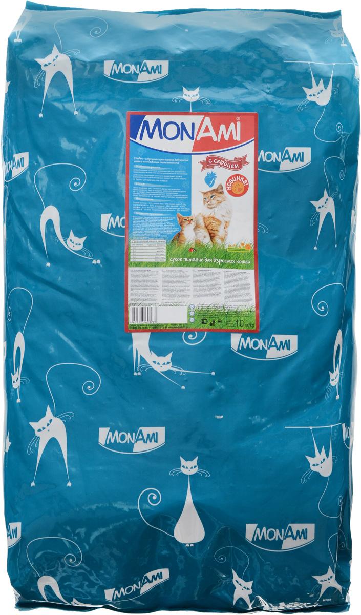 Корм сухой Mon Ami, для взрослых кошек, с сердцем, 10 кг59310Вкусный и полезный сухой корм Mon Ami - это то, что нужно вашей кошке, чтобы быть здоровой и счастливой. Особенности рациона: - Необходимое сочетание ингредиентов для достижения правильной усвояемости питательных веществ организмом.-Источник линолевой кислоты кислоты и правильного уровня витаминов группы В благотворно влияют на кожу и шерсть.Таурин - для здоровья глаз и сердца.Необыкновенный вкус понравится даже самым взыскательным питомцам, а полезность этого аппетитного обеда порадует хозяев. Товар сертифицирован.Уважаемые клиенты!Обращаем ваше внимание на возможные изменения в дизайне упаковки. Качественные характеристики товара остаются неизменными. Поставка осуществляется в зависимости от наличия на складе.