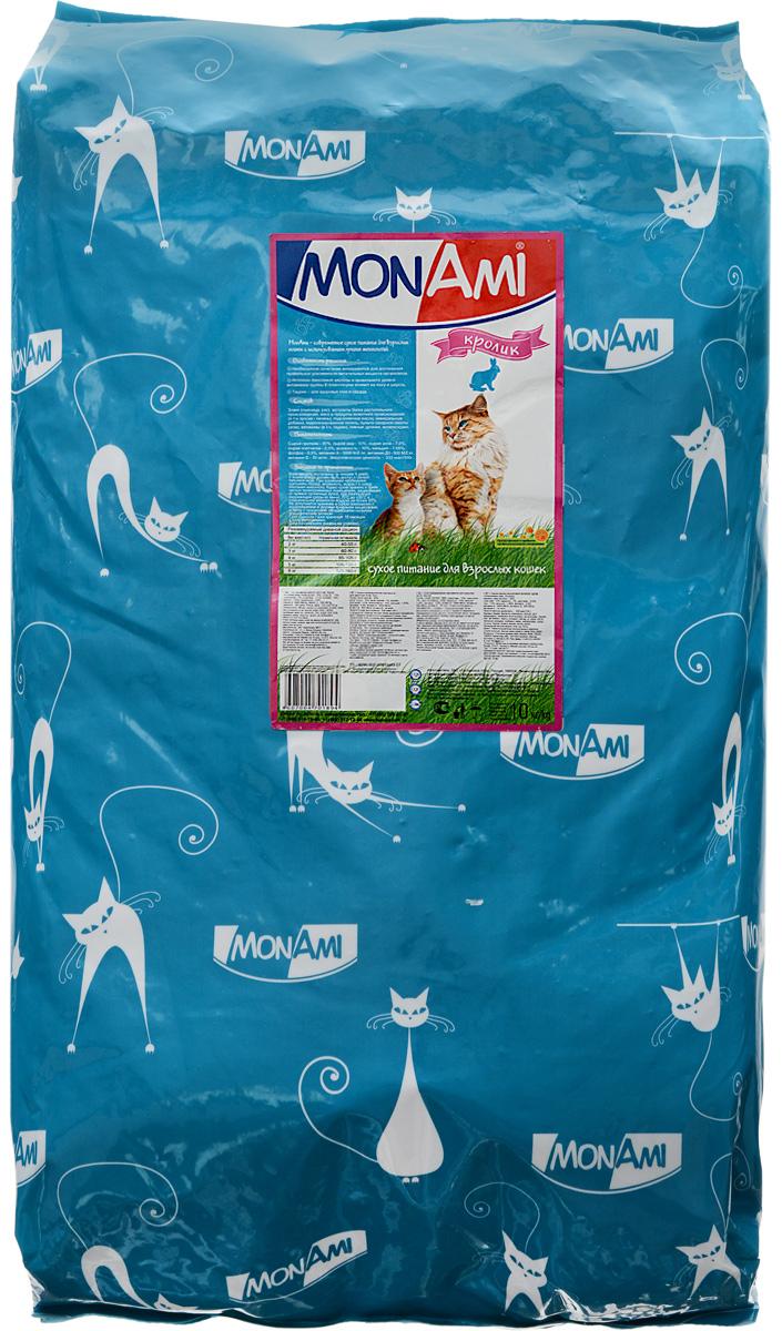 Корм сухой Mon Ami, для взрослых кошек, с кроликом, 10 кг0120710Вкусный и полезный сухой корм Mon Ami - это то, что нужно вашей кошке, чтобы быть здоровой и счастливой. Особенности рациона: - Необходимое сочетание ингредиентов для достижения правильной усвояемости питательных веществ организмом.-Источник линолевой кислоты кислоты и правильного уровня витаминов группы В благотворно влияют на кожу и шерсть.Таурин - для здоровья глаз и сердца.Необыкновенный вкус понравится даже самым взыскательным питомцам, а полезность этого аппетитного обеда порадует хозяев. Товар сертифицирован.