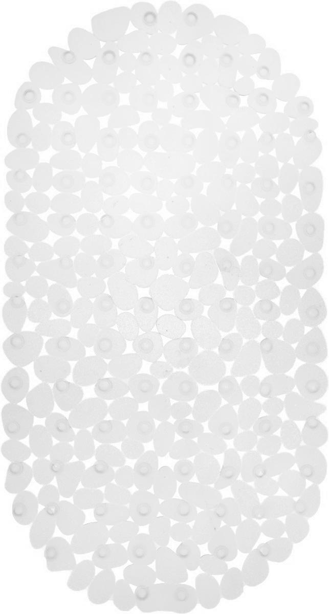 Коврик для ванной Axentia Галька, противоскользящий, на присосках, цвет: прозрачный, 67 х 34 смa030041Коврик для ванной Axentia Галька изготовлен из ПВХ. Это прочный противоскользящий материал, который отлично подойдет для помещений с повышенной влажностью. Коврик противоскользящий, поэтому его удобно использовать в душевой кабине или ванне. Крепится к поверхности при помощи присосок. Легко моется и не оставляет следов.