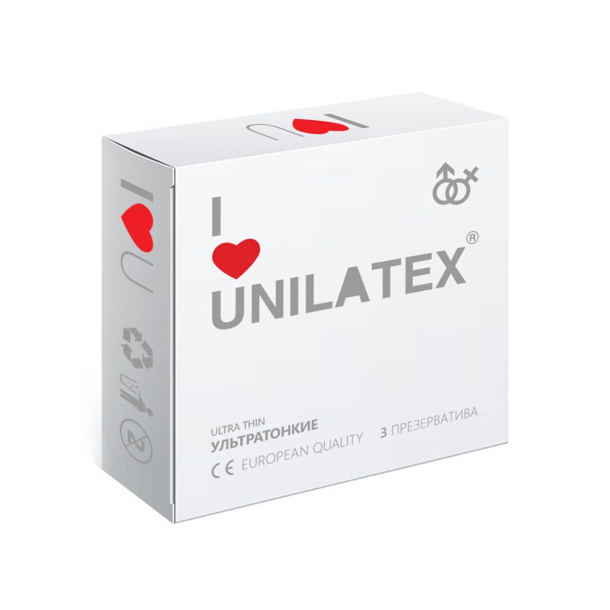 Презервативы Unilatex UltraThin, 3 штRef. 3012Ультратонкие презервативы из натурального латекса телесного цвета, гладкой поверхностью, покрыты силиконовой смазкой с нейтральным ароматом.