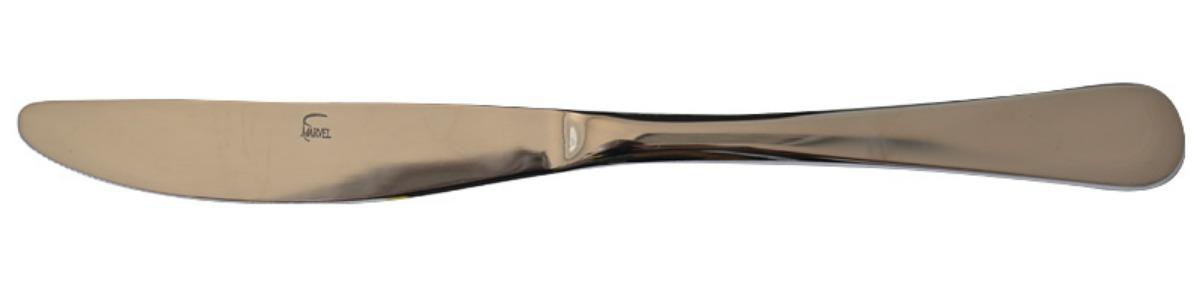 Нож столовый Marvel. 811GDSC-25Столовый нож Marvel выполнен из нержавеющей стали. Зеркальная полировка придает прибору строгость и изысканность.Такой столовый нож прекрасно украсит ваш праздничный стол и порадуют своим простым, но элегантным дизайном.