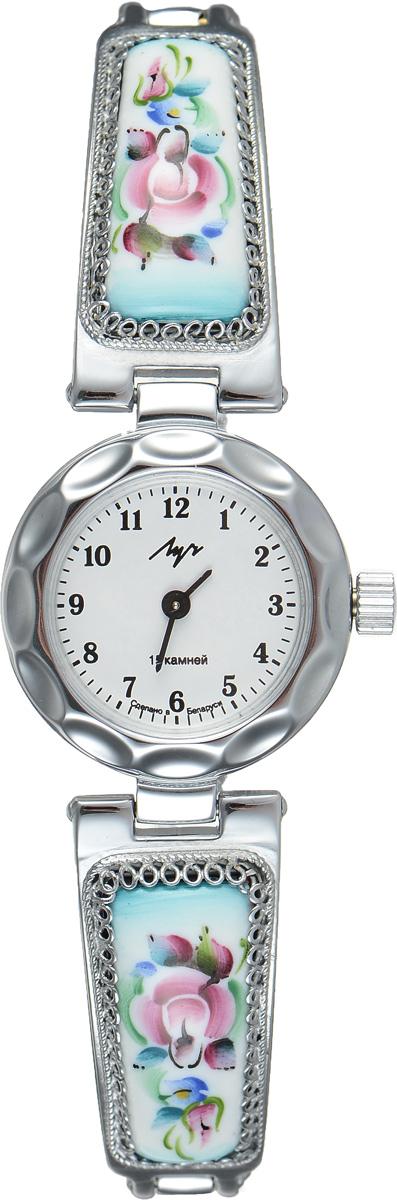 Часы наручные женские Луч, цвет: серебряный, белый. 81371514BM8434-58AEСтильные часы Луч выполнены из металлического сплава и органического стекла. Круглый корпус часов имеет напыление из хрома, циферблат оформлен символикой бренда.Механические часы с 15 рубиновыми камнями и противоударным устройством оси баланса дополнены оригинальным браслетом с вставками из эмали, которые декорированы росписью. Часы застегиваются на складной замочек.Часы Луч подчеркнут изящность женской руки и отменное чувство стиля у их обладательницы.