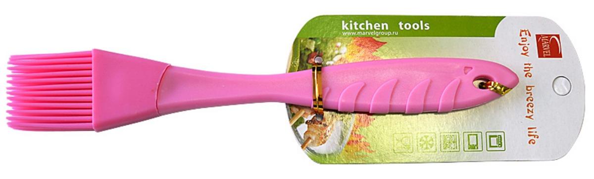 Кисть кулинарная Marvel, длина 23 см54 009312Кулинарная кисть Marvel, изготовленная из силикона, станет верным помощником в приготовлении домашней выпечки. Ей удобно смазывать противни, наносить на пироги взбитые яйца, глазурь, сироп, мед. Кисточка абсолютна безопасна для антипригарного покрытия, не оставляет царапин. Специальное отверстие на ручке позволяет подвесить кисть в удобном для вас месте. Кисточка Marvel поможет в приготовлении ваших любимых блюд. Длина кисточки: 23 см.