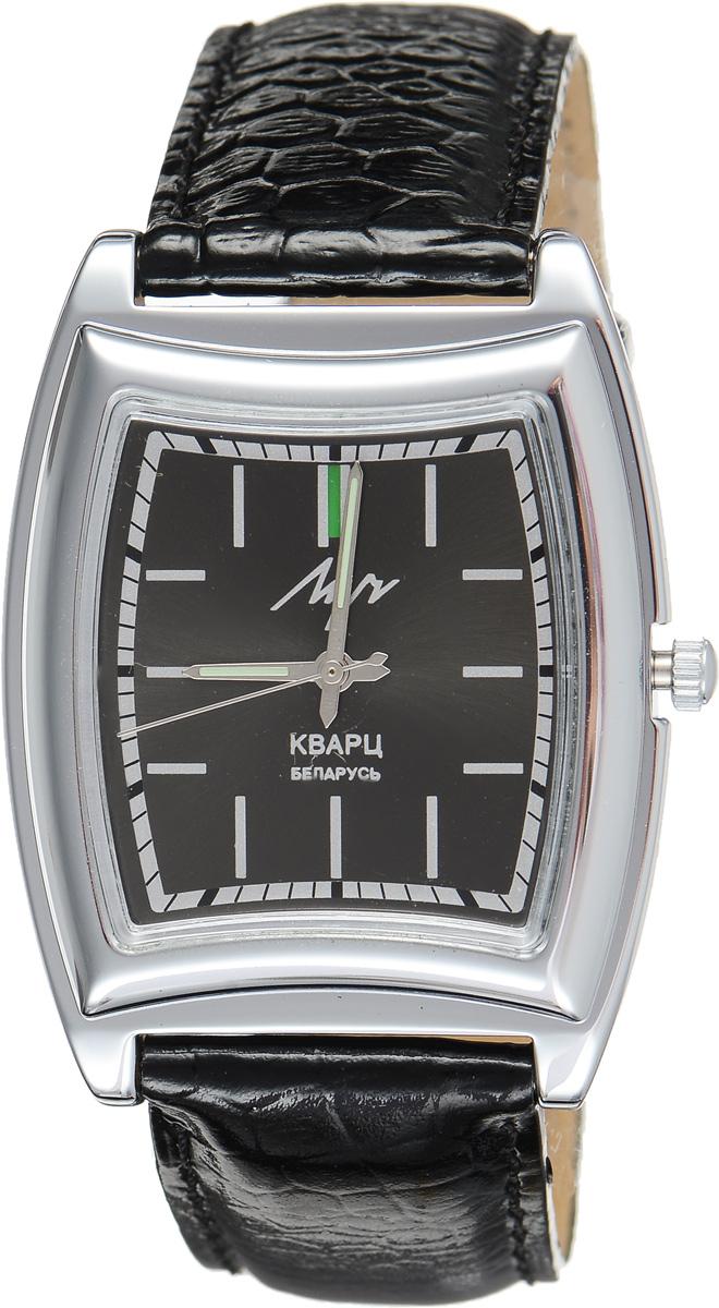 Часы наручные мужские Луч, цвет: серебряный, черный. 34481303BM8434-58AEСтильные мужские часы Луч выполнены из металлического сплава и силикатного стекла. Корпус с покрытием из хрома обладает высокой стойкостью к стиранию. Циферблат оформлен символикой бренда.Корпус часов оснащен кварцевым механизмом со сменным элементом питания, а также дополнен ремешком из натуральной кожи с лаковым покрытием и декоративным тиснением, который застегивается на практичную пряжку.Часы Луч подчеркнут отменное чувство стиля их обладателя.