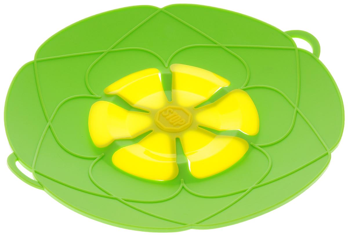 Крышка-невыкипайка Mayer & Boch, цвет: зеленый, желтый, диаметр 25 см391602Крышка-невыкипайка Mayer & Boch изготовлена из термостойкого силикона высокого качества, поэтому не теряет формы при воздействии высоких температур. Подходит для посуды диаметром 15-25 см. Изделие предотвращает выкипание, защищает мебель и плиту от брызг масла при жарке продуктов, следовательно, ваша кухня всегда будет в чистоте. Крышку также можно использовать для приготовления пищи на пару. Можно мыть в посудомоечной машине, использовать в СВЧ и в холодильнике. При хранении в прохладных местах крышка обеспечит свежесть продуктов. При использовании крышки в микроволновой печи масло не разбрызгивается.