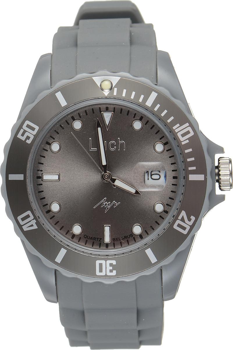 Часы наручные мужские Луч, цвет: серый. 728785943EQW-M710DB-1A1Стильные женские часы Луч выполнены из пластика и силикона. Циферблат оформлен символикой бренда и дополнен индикатором даты.Корпус часов оснащен кварцевым механизмом со сменным элементом питания, а также дополнен браслетом, который застегивается на практичную пряжку. На стрелки и циферблат нанесен светящийся состав.Часы поставляются в фирменной упаковке.Часы Луч подчеркнут отменное чувство стиля их обладателя.