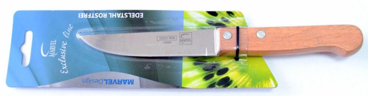 Нож для мяса Marvel Econom, длина лезвия 10 смDO-1107Нож Marvel Econom изготовлен из высококачественной стали. Рукоятка выполнена из дерева. Она не скользит в руке и делает резку удобной и безопасной. Этот нож идеально подходит для нарезки мяса. Он займет достойное место среди аксессуаров на вашей кухне.