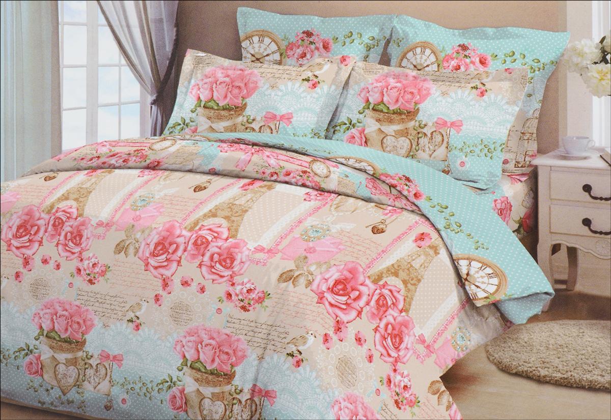 Комплект белья Letto, семейный, наволочки 70х70, цвет: розовый, голубой391602Комплект белья Letto, выполненный из бязи (100% хлопка), состоит из пододеяльника, простыни и двух наволочек.Бязь - хлопчатобумажная ткань полотняного переплетения без искусственных добавок. Большое количество нитей делает эту ткань более плотной, более долговечной. Высокая плотность ткани позволяет сохранить форму изделия, его первоначальные размеры и первозданный рисунок.Приобретая комплект постельного белья Letto, вы можете быть уверенны в том, что покупка доставит вам и вашим близким удовольствие и подарит максимальный комфорт.