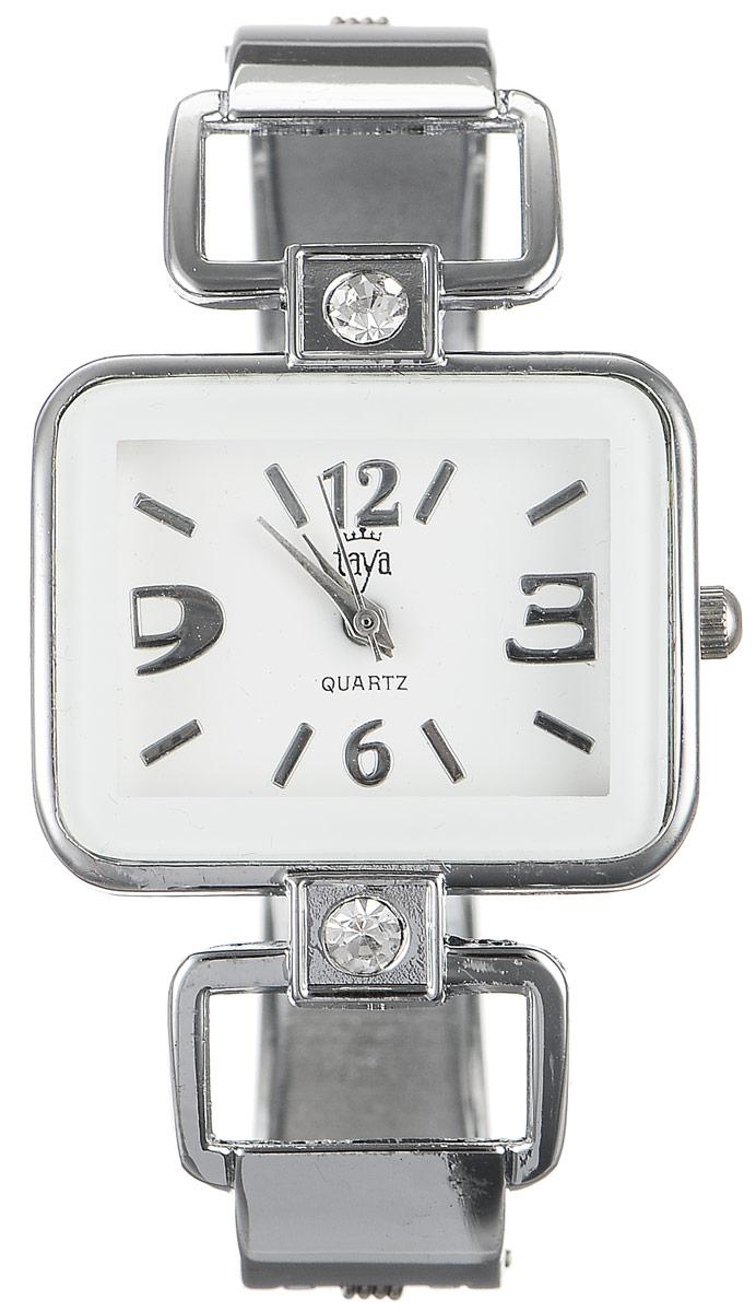 Часы наручные женские Taya, цвет: серебристый, белый. T-W-0418BM8434-58AEСтильные женские часы Taya выполнены из минерального стекла и нержавеющей стали. Циферблат часов украшен символикой бренда.Корпус часов оснащен кварцевым механизмом со сменным элементом питания, а также дополнен раздвижным браслетом с пружинным механизмом, который позволяет надеть часы на любую руку. Браслет оформлен стразами.Часы поставляются в фирменной упаковке.Часы Taya подчеркнут изящность женской руки и отменное чувство стиля у их обладательницы.